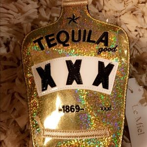 Handbags - Yellow and Gold Tequila Novelty Crossbody